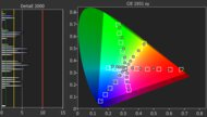 LG CX OLED Color Gamut DCI-P3 Picture