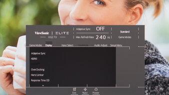 ViewSonic Elite XG270 OSD Picture