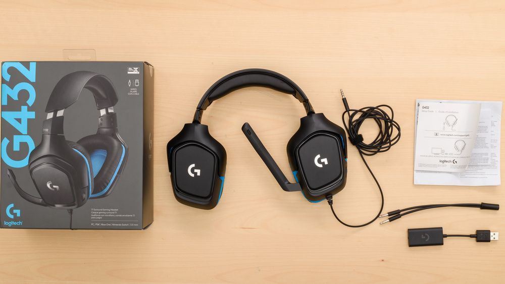 Logitech G432 Gaming Headset In the box Picture