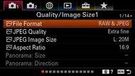 Sony α6400 Screen Menu Picture