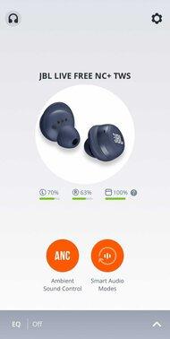 JBL Live Free NC+ TWS True Wireless App Picture