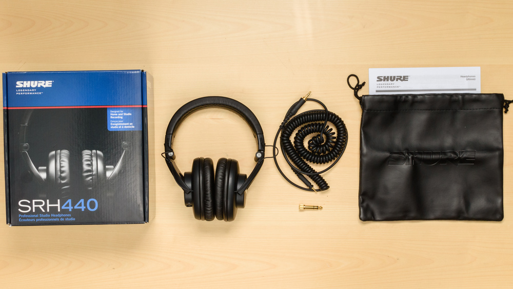 Shure SRH440 In the box Picture