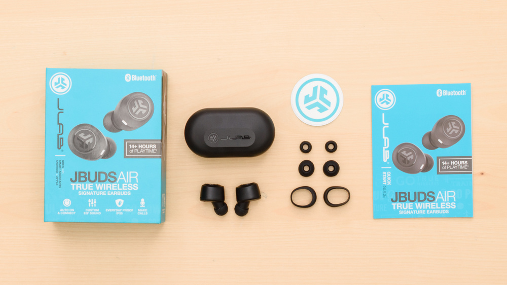 JLab Audio JBuds Air Truly Wireless  In the box Picture