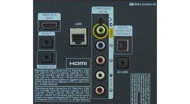 Samsung F5500 LED Rear inputs