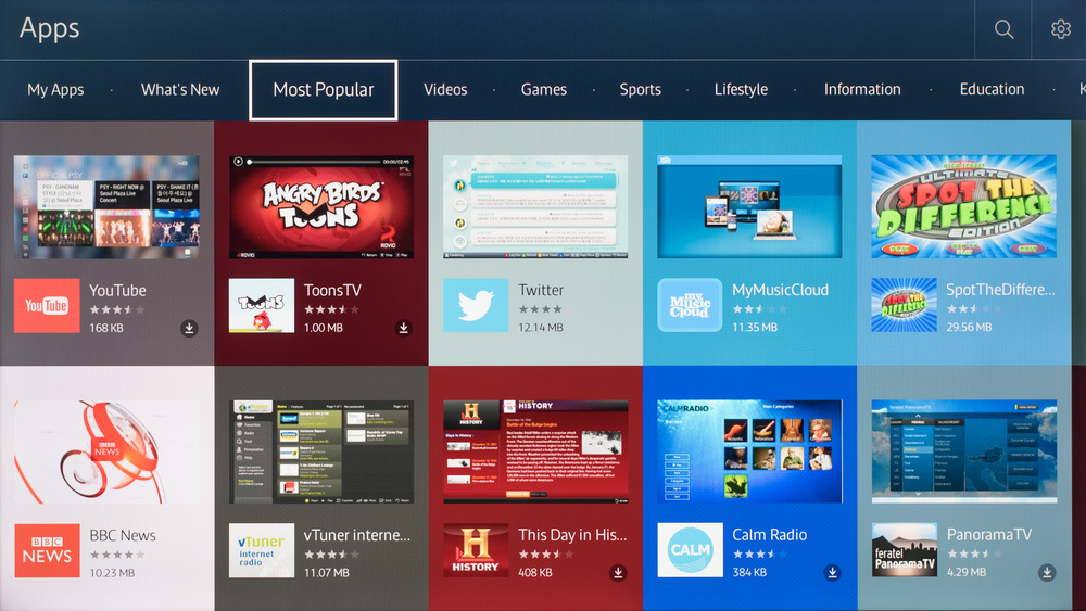 Samsung JU7100 Smart TV Picture