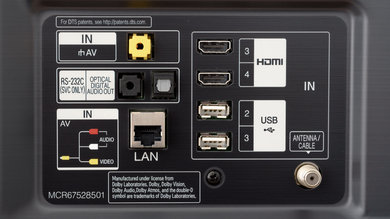 LG SM8600 Rear Inputs Picture