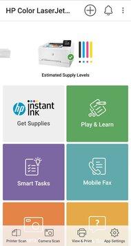 HP Color LaserJet Pro M255dw App Printscreen