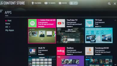 LG UK7700 Apps Picture