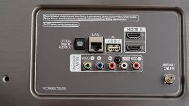 LG UK7700 Rear Inputs Picture