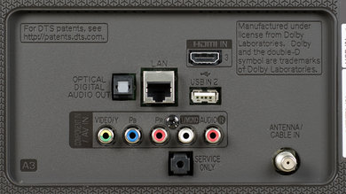 LG UH6550 Rear Inputs Picture