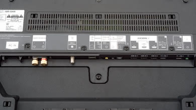 Sony A9F OLED Rear Inputs Picture
