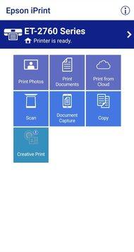 Epson EcoTank ET-2760 App Printscreen