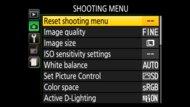 Nikon D3500 Screen Menu Picture