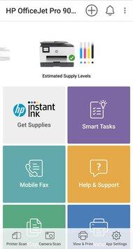 HP OfficeJet Pro 9025 App Printscreen
