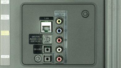 Samsung JU6700 Rear Inputs Picture