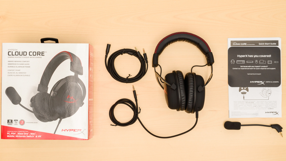 HyperX Cloud Core In the box Picture