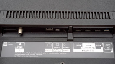 Sony X950G Rear Inputs Picture