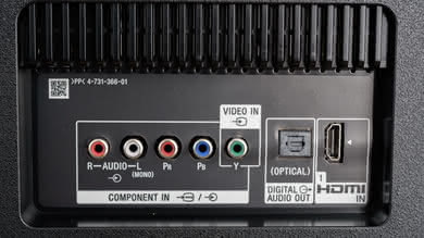 Sony X830F Rear Inputs Picture