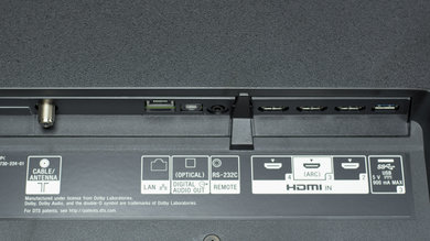 Sony X900F Rear Inputs Picture