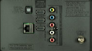 LG UF6800 Rear Inputs Picture