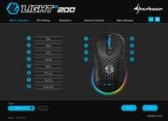 Sharkoon Light² 200 Software settings screenshot