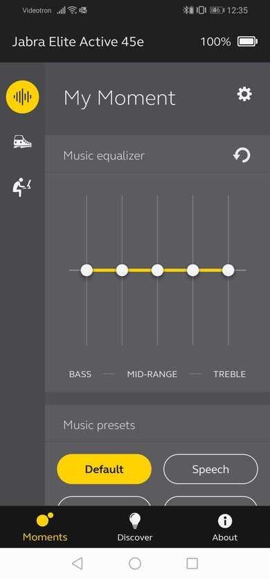 Jabra Elite Active 45e Wireless App Picture