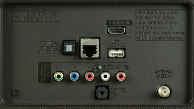 LG UH6500 Rear Inputs Picture