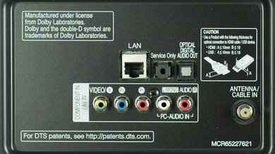 LG LF6300 Rear Inputs Picture