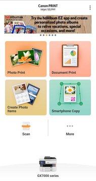 Canon MAXIFY GX7020 App Printscreen