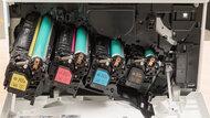 HP Color LaserJet Enterprise M555dn Cartridge Picture In The Printer