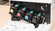 HP Color LaserJet Enterprise M553dn Cartridge Picture In The Printer