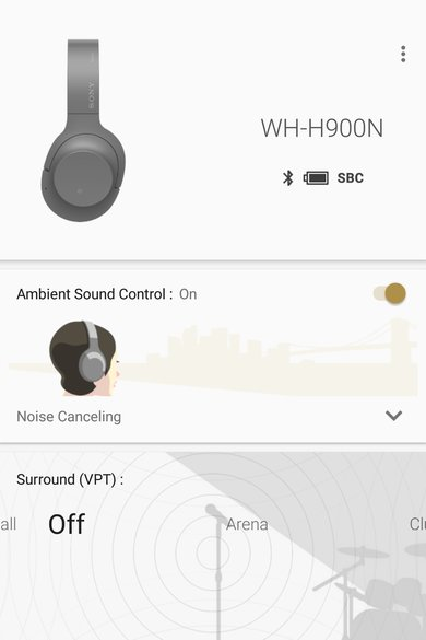 Sony WH-H900N App Picture