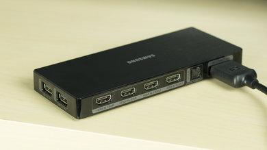 Samsung JU7100 Rear Inputs Picture