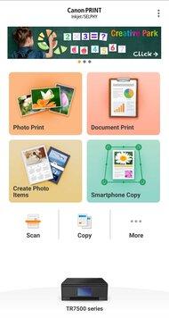 Canon PIXMA TR7520 App Printscreen