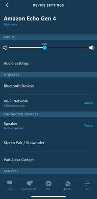 Amazon Echo Gen 4 App Picture