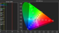 Sony A80J OLED Color Gamut Rec.2020 Picture