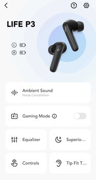 Anker SoundCore Life P3 Truly Wireless App Picture