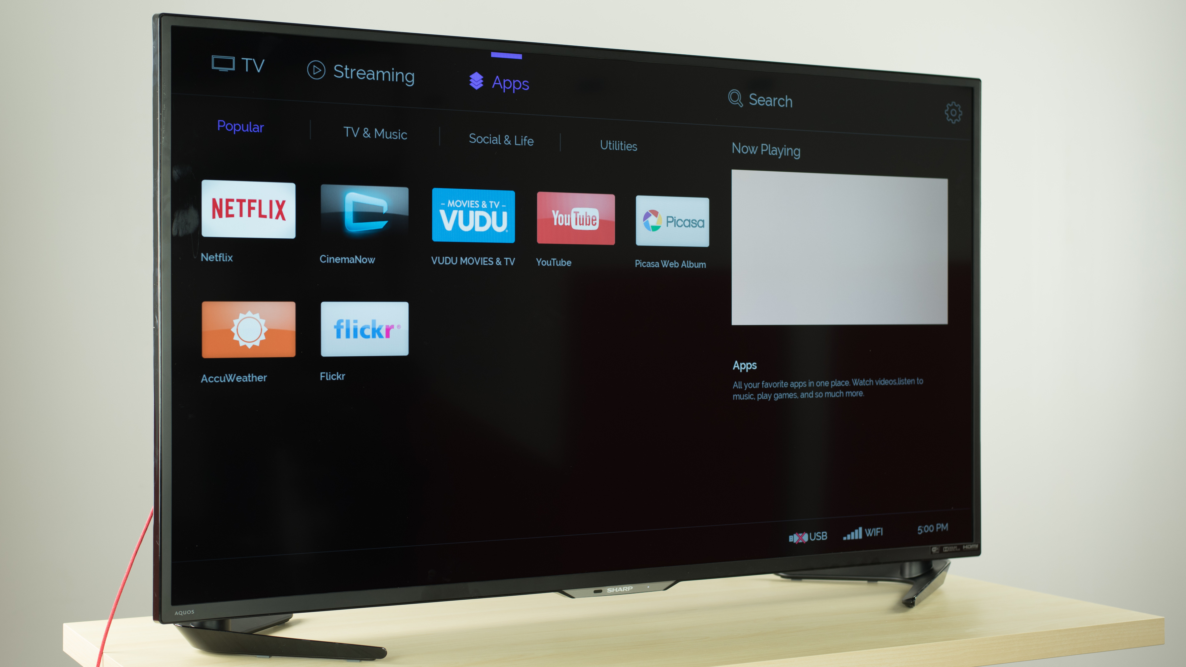 Can i download apps on my sharp smart tv