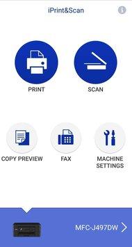 Brother MFC-J497DW App Printscreen