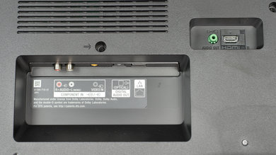 Sony X720E Rear Inputs Picture
