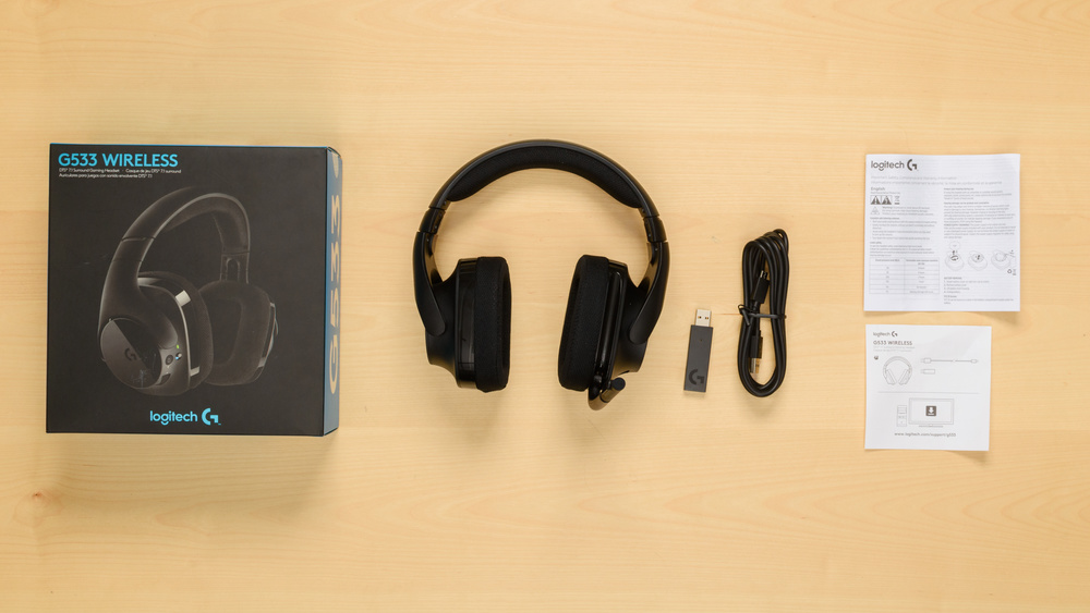 Logitech G533 Wireless Gaming Headset In the box Picture