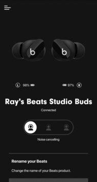 Beats Studio Buds True Wireless  App Picture
