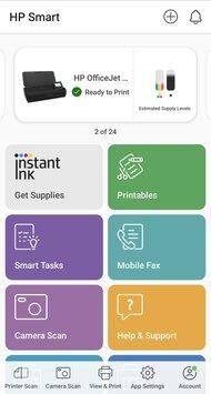 HP OfficeJet 250 App Printscreen