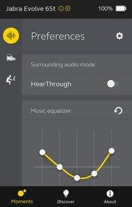 Jabra Evolve 65t Truly Wireless App Picture