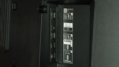 Sony X930C Side Inputs Picture