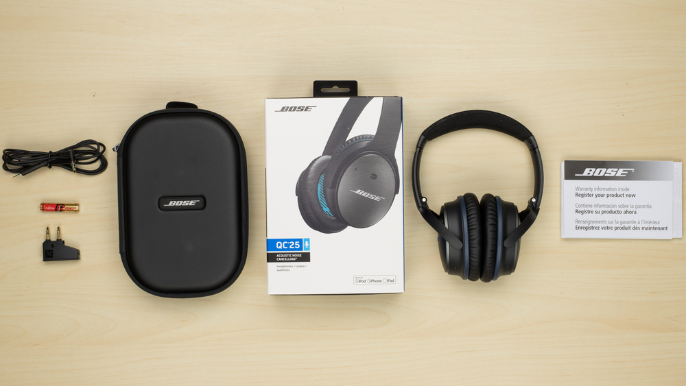 Bose QuietComfort 25 In the box Picture