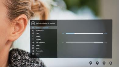 Dell U3818DW OSD picture