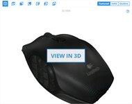 Logitech G600 MMO Gaming 3D Model