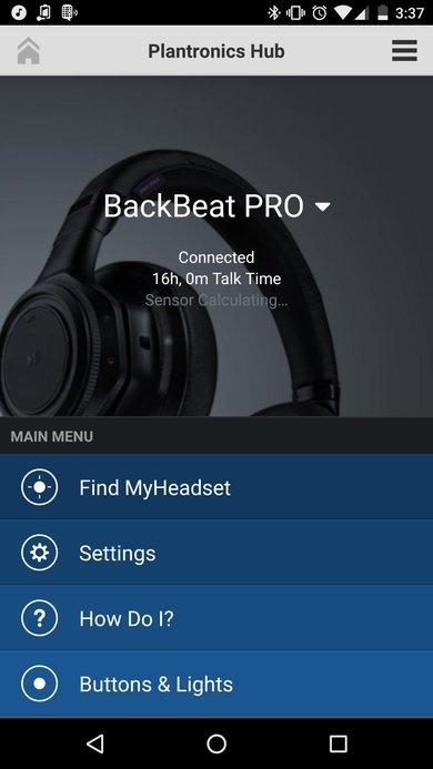 Plantronics Backbeat Pro Wireless 2014 App Picture