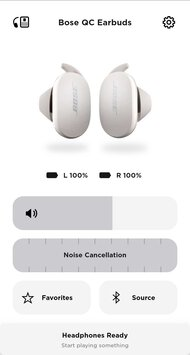 Bose QuietComfort Earbuds Truly Wireless App Picture